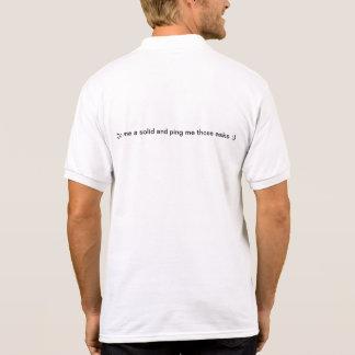 Grande negócio T para a cara no funcionamento! T-shirt Polo
