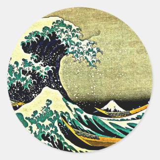 Grande onda fora de Kanagawa - Katsushika Hokusai Adesivo