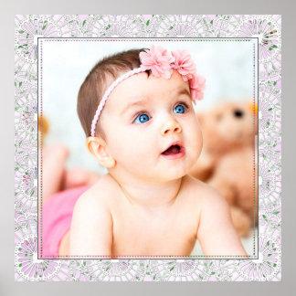 Grande poster da foto do bebê pôster