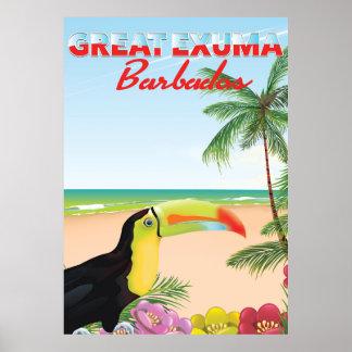Grande poster de viagens de Euxma Barbados