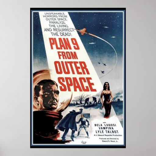 Grande poster vintage - filme velho do espaço