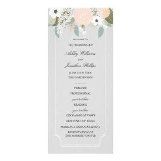 Grande programa floral do casamento 10.16 x 22.86cm panfleto