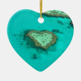 Grande recife de coral, coral do coração de ornamento de cerâmica coração