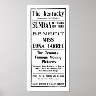 Grande viagem da extorsão do trem ao anúncio 1904 impressão