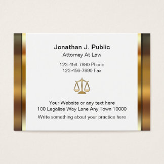 Grandes cartões de visitas do advogado