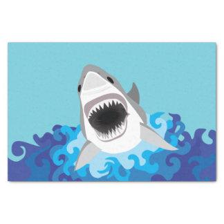 Grandes desenhos animados engraçados do tubarão papel de seda