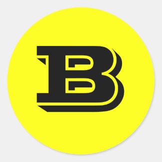 Grandes etiquetas redondas principais da letra B