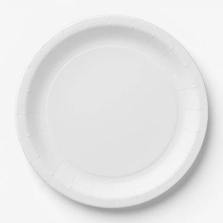 Grandes placas de papel prato de papel