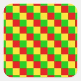 Grandes quadrados de Rasta Adesivos Quadrados