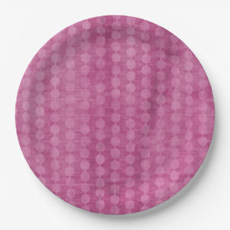 Grânulo cor-de-rosa prato de papel