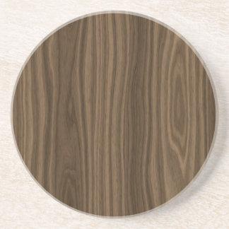 Grão da madeira de Brown escuro Porta Copos De Arenito
