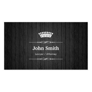 Grão de madeira preta real do advogado/advogado cartão de visita