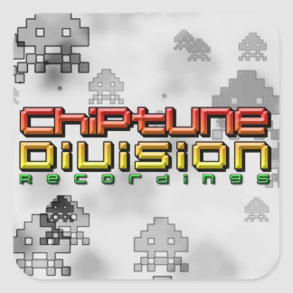 Gravações da divisão de Chiptune Adesivo Quadrado