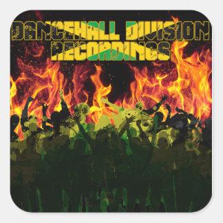 Gravações da divisão de Dancehall Adesivo Em Forma Quadrada