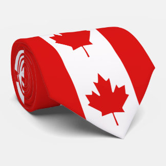 Gravata A bandeira da folha de bordo de Canadá
