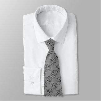 Gravata Abóbora do Dia das Bruxas com design cortado do