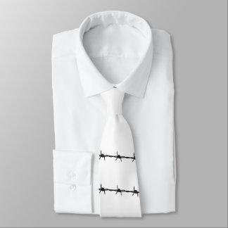 Gravata Arame farpado rústico branco e preto elegante