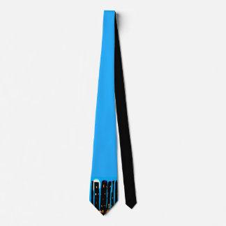 Gravata azul dos desenhos animados da cidade