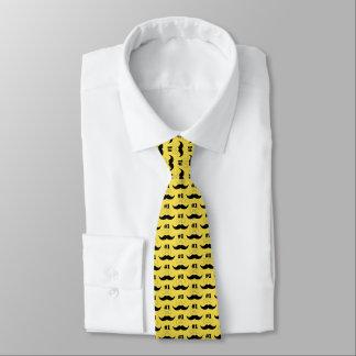 Gravata Bigode amarelo e preto do pai #1 - número um