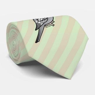 Gravata Budgie cinzento Papai Noel