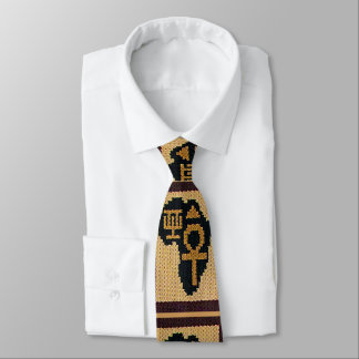 Gravata Crochet africano dos símbolos de África por todo o