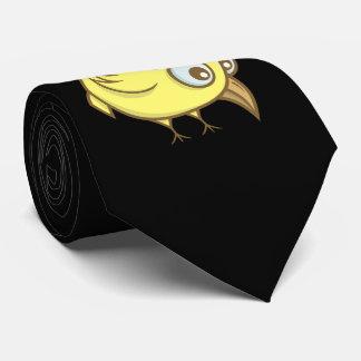 Gravata Desenhos animados amarelos do pássaro