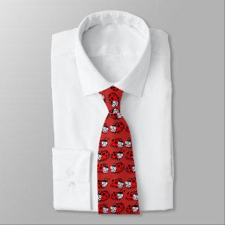 Gravata design bonito dos joaninhas dos desenhos animados