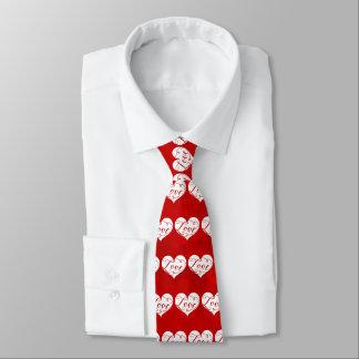 Gravata Dia dos namorados vermelho do redemoinho do