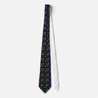 gravata do impressão da pata do gato no preto