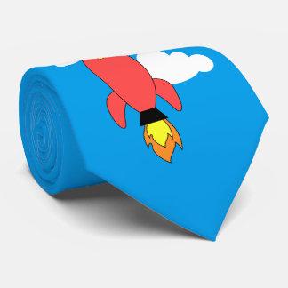 Gravata Foguete vermelho dos desenhos animados