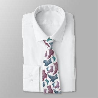 Gravata Forma engraçada do vintage das botas das senhoras