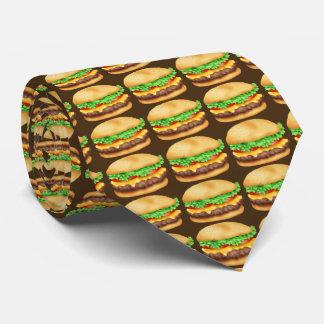 Gravata Laço da comida do teste padrão do Hamburger do