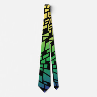 Gravata Laço do bloco do azul e do verde