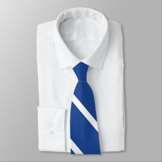 Gravata Laço Médio-Azul e branco da listra da universidade