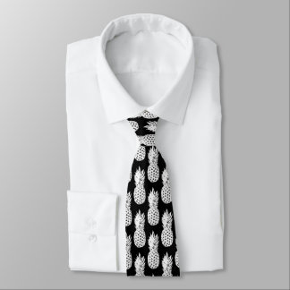 Gravata Laço preto e branco do pescoço do teste padrão da