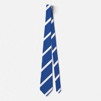 Gravata Laço regimental Médio-Azul e branco da listra