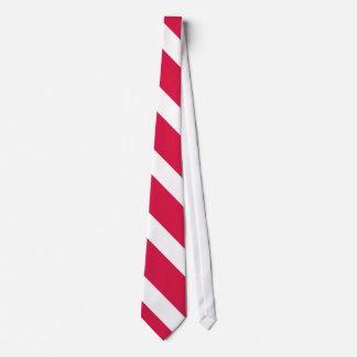 Gravata Laço vermelho e branco II da listra da
