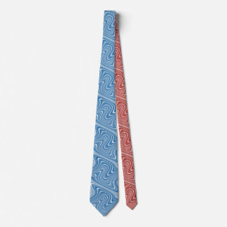 Gravata Linha Curvy cinzenta branca vermelha/azul legal