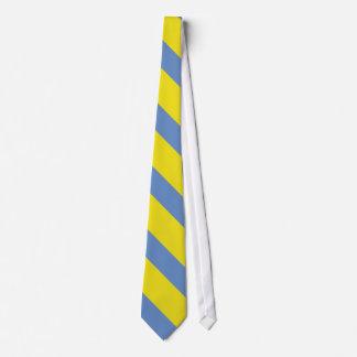 Gravata Listra da universidade do amarelo e dos azul-céu