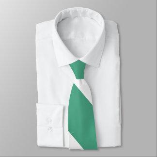Gravata Listra larga verde e branca do relvado da