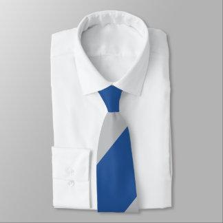 Gravata Listra regimental larga da força azul e de prata