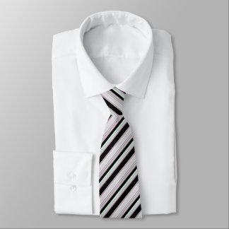Gravata Luz branca preta - verde/listras vermelhas