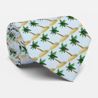 Gravata Luz da palmeira - pai azul do dia dos pais da