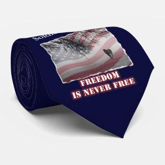 Gravata memorável que honra o soldado ou o oficial