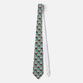 Gravata modelada da lágrima de Brown azul estilo