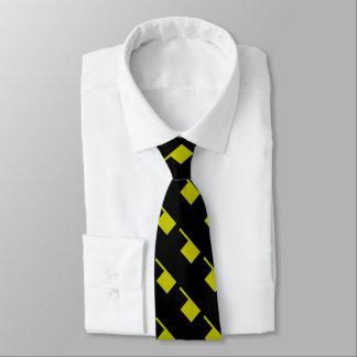 Gravata Modificação 4Keith do amarelo da mostarda preta