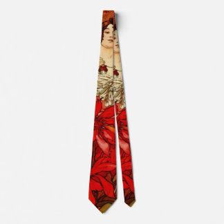 Gravata Rubi 1896 das gemas de Nouveau da arte