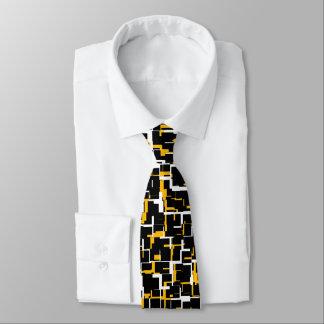Gravata Teste padrão amarelo branco preto de Digitas