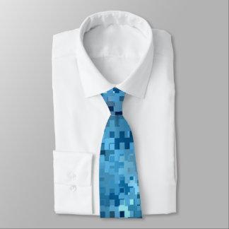Gravata Teste padrão azul legal do na moda na moda