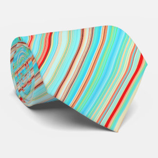 Gravata Teste padrão listrado multicolorido